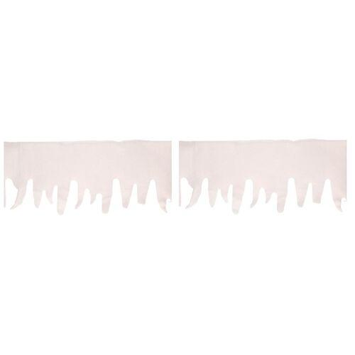 Bellatio Decorations 2x kunstsneeuw decoratie ijspegels slingers 200 cm -