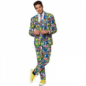 Opposuits Heren verkleedkostuum Super Mario business suit 50 (L) -