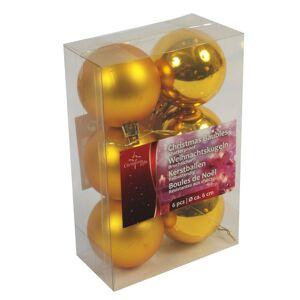 Bellatio Decorations Gouden kerstdecoratie kerstballen set van kunststof 12 stuks - Kerstbal