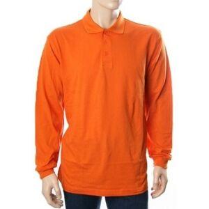 B&C Oranje polo shirt lange mouwen 2XL Oranje