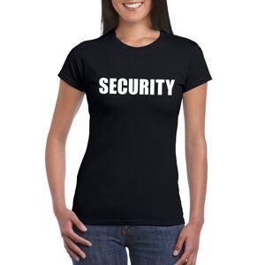 Bellatio Decorations Security t-shirt zwart voor dames XS - Feestshirts