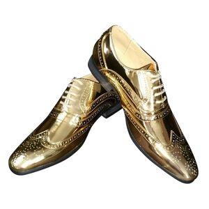 Merkloos Disco veterschoenen goud voor heren 47 -