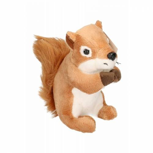 Merkloos Pluche eekhoorn knuffeltje14 cm -