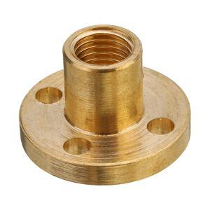 3D Printer T8 1/2/4/8/10/12mm Copper Lead Screw Nut For Stepper Motor Lead Screw 8mm Thread