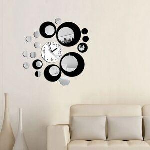 Creative Honana DX-X6 Creative 3D Acrylic Mirror Wall Sticker Quartz Clocks Watch Large Home Decor