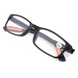 KCASA TR90 Resin light Weight Black Reading Glasses