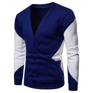 Men Color Block Dual Pockets Button Cardigans