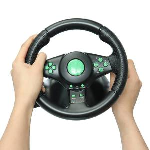 Microsoft Racing Game Steering Wheel for XBOX 360 Game Console PS2 for PS3 PC Vibration Car Steering-Wheel with Pedals