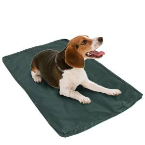 Home Waterproof Dog Bed Large Washable Cover Pet Mat Pad Cushion Red Bone
