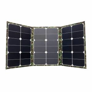 90W Foldable Solar Panel Dual USB Battery Charger Power Bank Camping Hiking