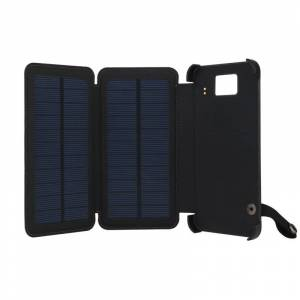 IPRee 5.5inch 8000mAh Solar Panel Charger Kit Waterproof USB Power Bank With LED Light For Any Phone Laptop