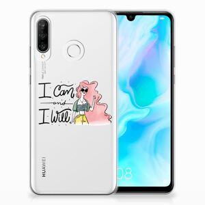 B2Ctelecom Huawei P30 Lite Telefoonhoesje met Naam i Can