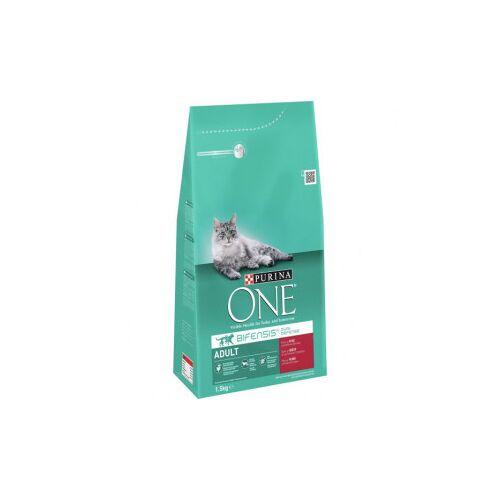 Purina One Adult Rund Volkoren Granen kattenvoer 1,5 kg