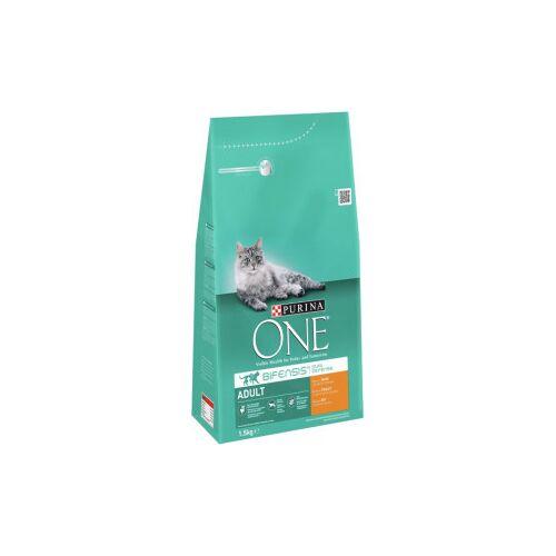 Purina One Adult Kip Volkoren Granen kattenvoer 1,5 kg