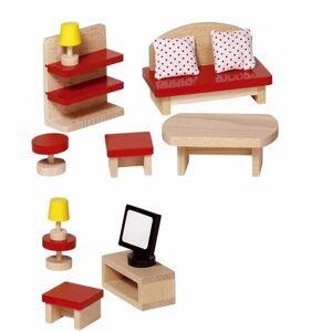 Goki Woonkamer meubeltjes voor een poppenhuis