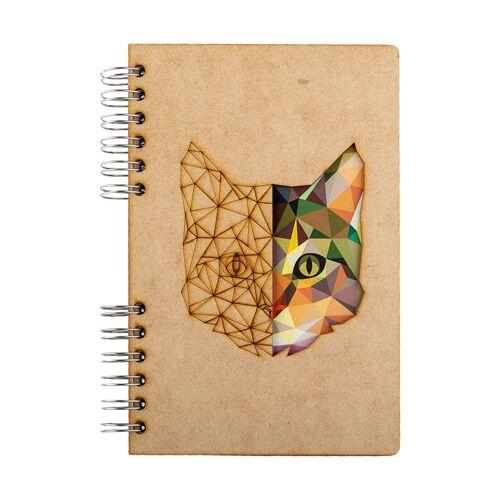 Notebook MDF 3d kaft A6 blanco - Kat-