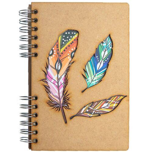 Notebook MDF 3d kaft A6 blanco - Veren-