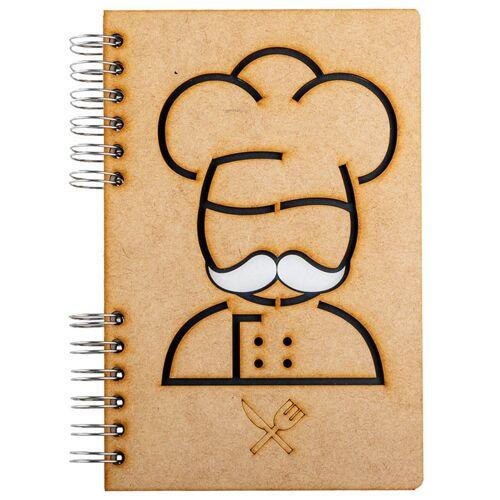 Notebook MDF 3d kaft A5 blanco - Chef-