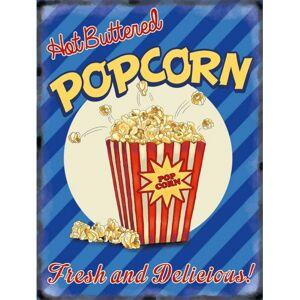 Merkloos Grote muurplaat Popcorn 30x40cm