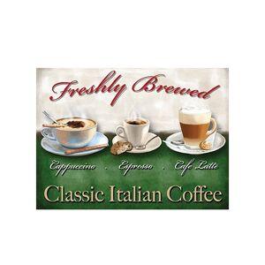 Merkloos Metalen plaatje Italian coffee