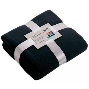 James & Nicholson Donkerblauw fleece deken