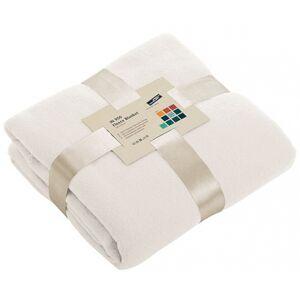 James & Nicholson Gebroken wit fleece deken
