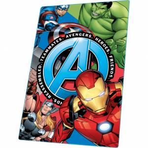 Marvel Avengers flanellen kinderkamer fleecedeken blauw 100 x 150 cm