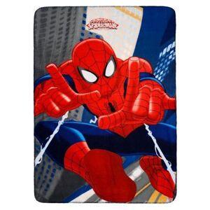 Marvel Spiderman kinderkamer fleecedeken blauw 100 x 140 cm