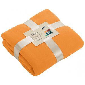 James & Nicholson Oranje fleece deken