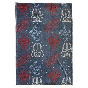 Star Wars flanellen kinderkamer fleecedeken grijs 120 x 160 cm