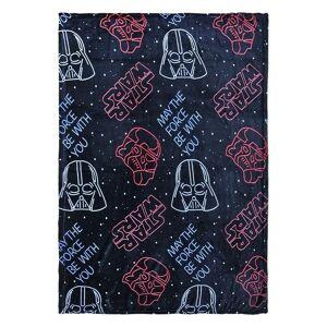 Star Wars flanellen kinderkamer fleecedeken zwart 120 x 160 cm