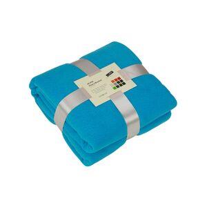 James & Nicholson Turquoise blauw fleece deken