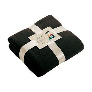 James & Nicholson Zwart fleece deken