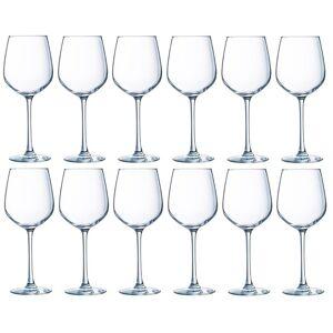 Luminarc 12x Witte wijnglazen transparant 310 ml