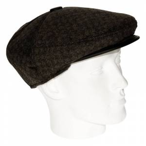 Geen Bruine retro flatcap voor heren