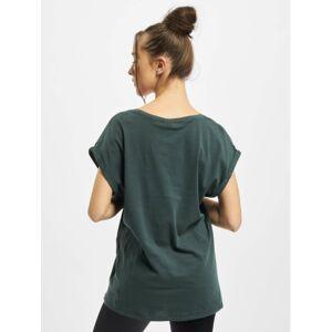 Urban Classics / t-shirt Ladies Extended Shoulder in groen  - Dames - Groen - Grootte: 5X-Large