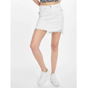 NA-KD / Rok Distressed in wit  - Dames - Wit - Grootte: 36
