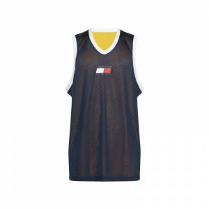 Tommy Hilfiger Sport tank top graphics reverse donkerblauw