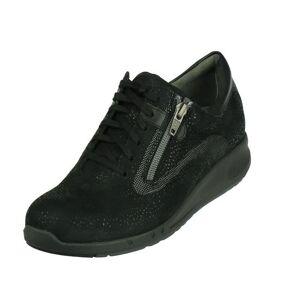 Durea Durea GO comfort Lage Veterschoen met Rits  - zwartmuflone lux zwart - Size: 6
