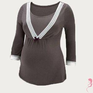 Amoralia VoedingsPyjamaTop Lace Grijs