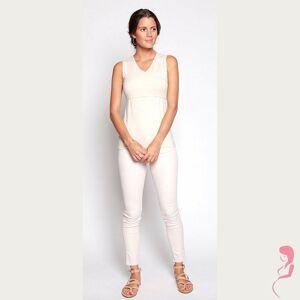 Milker Zwangerschapsshirt Positieshirt Nova White