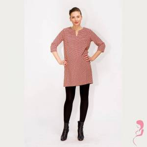 Fragile Zwangerschapsjurk Voedingsjurk Pink Dots