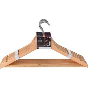 Merkloos 24x stuks Luxe houten kledinghangers