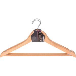 Merkloos Houten kledinghangers 3 stuks