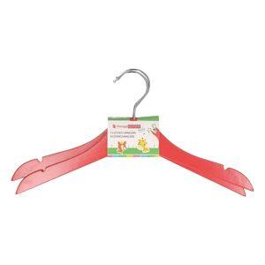 Merkloos Rode houten kledinghangers voor kinderen 2 stuks