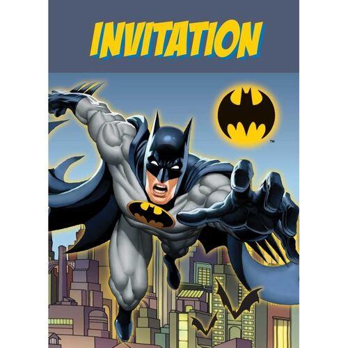 Batman 8x Batman themafeest uitnodingen/kaarten