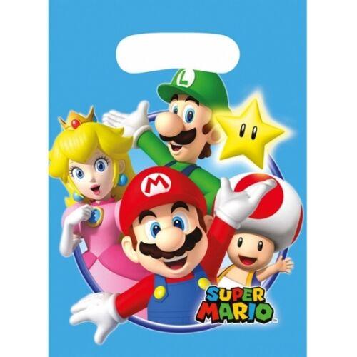 Disney 8x stuks Super Mario thema feestzakjes/cadeauzakjes