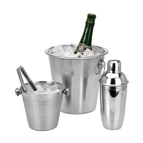 Merkloos Barset - ijsemmer/koelemmer/cocktailshaker