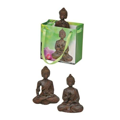 Merkloos Boeddha beeld bruin in cadeautasje 5,5 cm