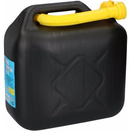 Merkloos Jerrycan 10 liter zwart voor brandstof